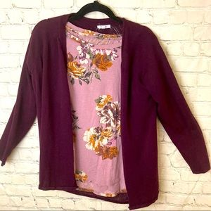 Maurices pink floral tee